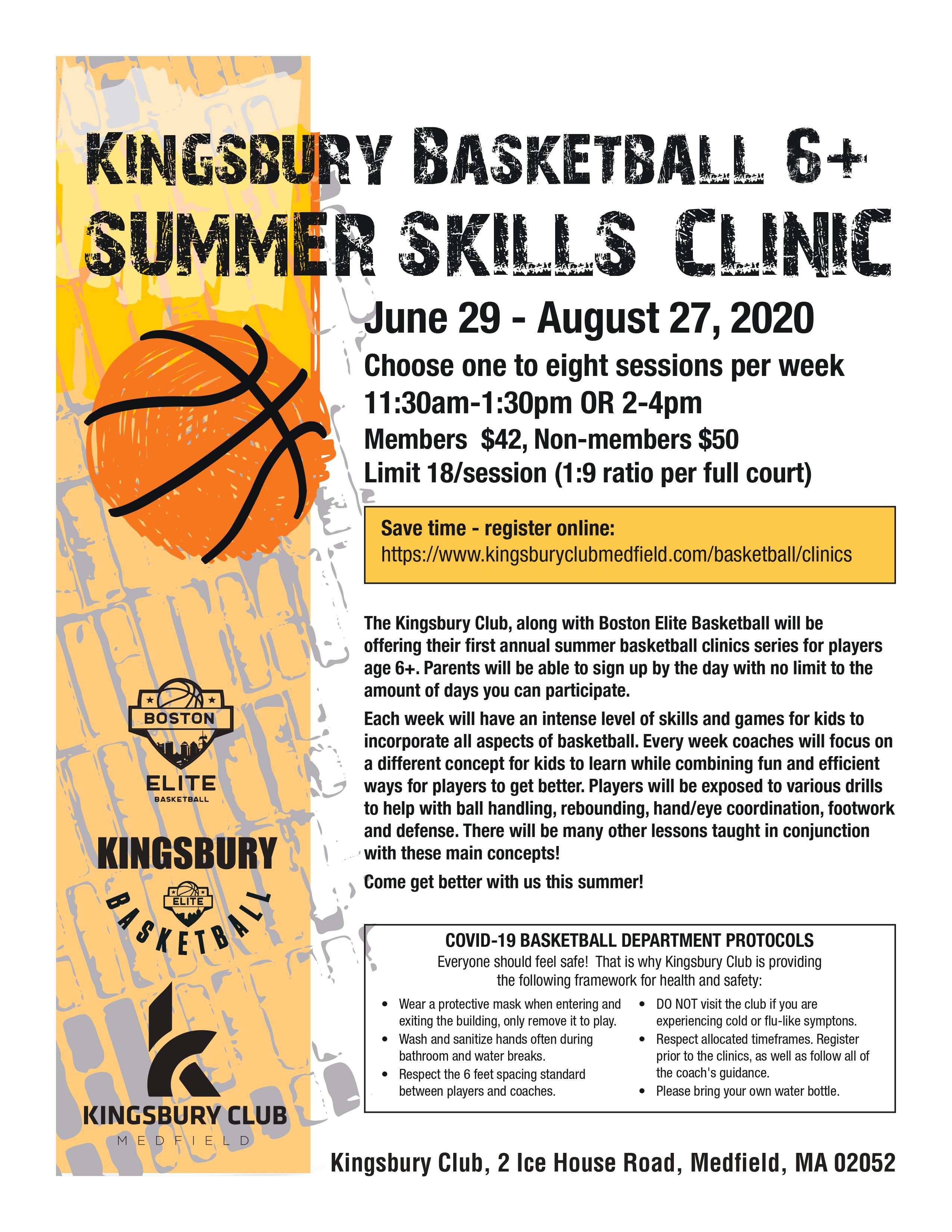 summer Skills Clinic page 1