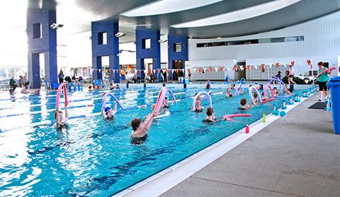 banner button aqua aerobics