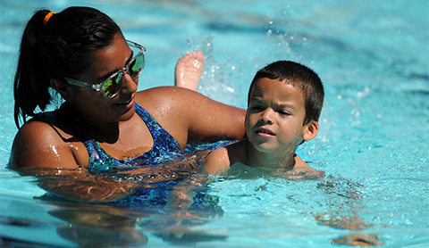 banner button swim lessons